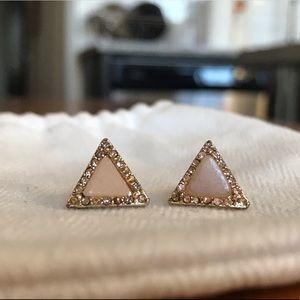 NWOT Dainty triangle stud earrings